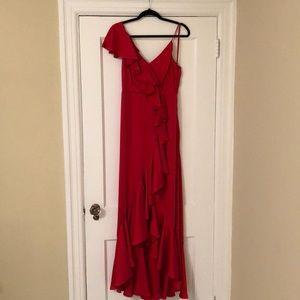 Jill Jill Stuart Red Ruffle Gown
